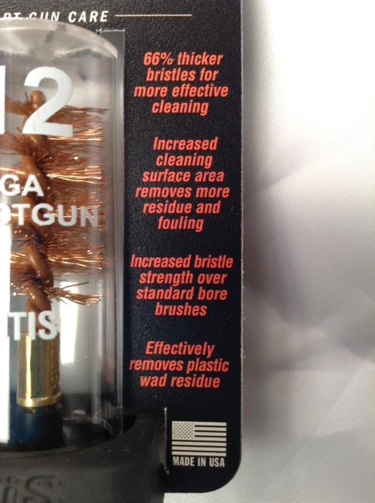 OTIS 12 Gauge Cleaning Brush AR15 Gear